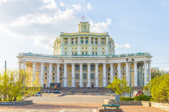 The famous Sovet Army teatr- one of the symbols of Moscow Stock Photos
