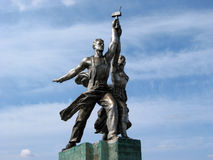 Famous Soviet monument Royalty Free Stock Photo
