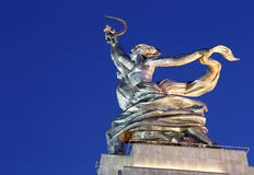 Famous soviet monument Rabochiy i Kolkhoznitsa, Moscow, Russia Stock Photos