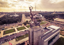 Famous soviet monument Worker and Kolkhoz Woman, Moscow Royalty Free Stock Photo