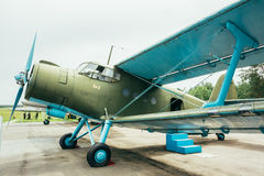 Famous Soviet Plane Paradropper Antonov An-2 Heritage Of Flying Royalty Free Stock Photos