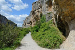 Famous Spanish canyon Foz de Lumbier Royalty Free Stock Image