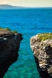 Famous Spanish destination, Cathedrals beach (playa de las cated Stock Photos