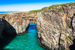Famous Spanish destination, Cathedrals beach (playa de las cated Stock Photography