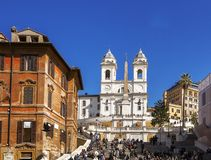 The famous Spanish Steps in Rome Stock Image