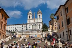 The Spanish Steps royalty free stock photography