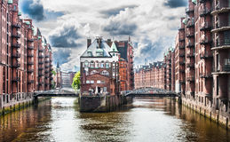 Famous Speicherstadt warehouse district in Hamburg, Germany Royalty Free Stock Photography