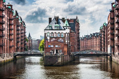 Famous Speicherstadt warehouse district in Hamburg, Germany Stock Photo