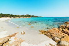 Famous Spiaggia del Principe in Sardinia. On a clear day Stock Photos