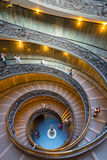 The famous spiral staircase with beautiful rails in Vatican Muse Stock Photos