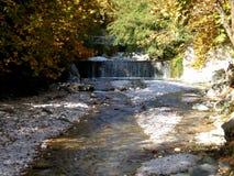Thermal springs of Almopia in Pozar Aridaia, Pella, Greece. stock images