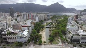 Famous squares of the world. Aerial view of the set of squares known as the Garden of Allah. Rio de Janeiro Brazil. Famous squares of the world. Aerial view of stock video footage