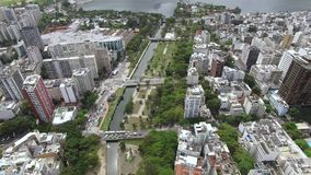 Famous squares of the world. Aerial view of the set of squares known as the Garden of Allah. Rio de Janeiro Brazil. Famous squares of the world. Aerial view of stock video