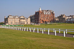 The famous St Andrews Old Course Royalty Free Stock Photo