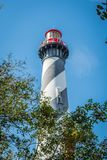 The famous St. Augustine Light Station in St Augustine, Florida stock image