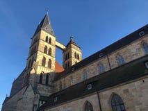 St. Dionysius church of Esslingen, Germany stock images