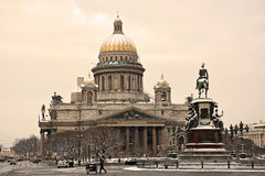 The famous St. Isaac cathedral Stock Photography