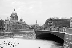 The famous St. Isaac cathedral Royalty Free Stock Images