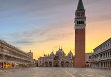 Famous st.Marco square in Venice, Italy Stock Photo