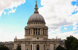 The famous St Paul`s cathedral , London, United Kingdom. stock photo