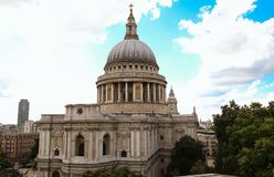 The famous St Paul`s cathedral , London, United Kingdom. royalty free stock photo