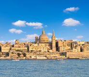 The famous St.Paul`s Cathedral in Valletta on a bright day Stock Photo