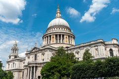 The famous St. Pauls Cathedral in London Royalty Free Stock Images