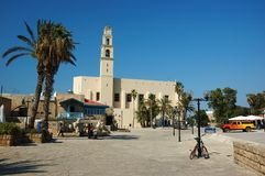 Famous St. Peter's Church in old Jaffa,Israel Royalty Free Stock Images