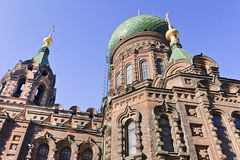 Famous St. Sophia Church in Harbin, largest Eastern Orthodox Church in Far East. Stock Image