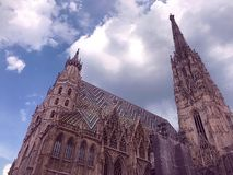 The famous St. Stephen`s Cathedral of Vienna, Austria stock image