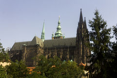 Famous St. Vitus Cathedral Royalty Free Stock Images