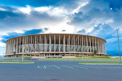 The Famous Stadium Mane Garrincha in Brasilia the capital of Brazil Stock Image