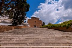 Rome. Stairway to Heaven. Royalty Free Stock Photography