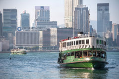 The famous Star Ferry crossing Victoria Harbour, Hong Kong Stock Image