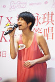 Famous star Gigi Leung promotes her new CD Stock Photos