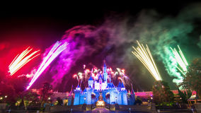 The Famous Stars Firework Of Hong Kong DisneyLand Stock Images
