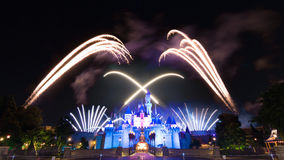 The Famous Stars Firework Of Hong Kong DisneyLand Stock Photography
