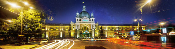 Famous station in Lviv Royalty Free Stock Image