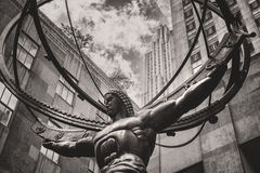 The famous Statue of Atlas in New York City Stock Photography