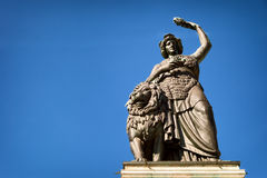 Famous statue of bavaria Royalty Free Stock Photography