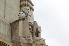 Famous statue of Cervantes Royalty Free Stock Image
