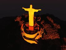 Famous statue of the Christ the Redeemer Royalty Free Stock Photography