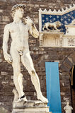Famous statue of David in Florence. Stock Photos