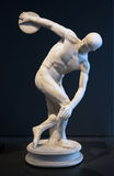 Famous statue of Discus Thrower in Rome. Statue of Discus Thrower (or Discobolus) in Rome. Its the best copy ever found of the original statue,  in bronze, made Royalty Free Stock Images