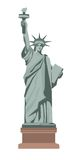 Famous Statue of Liberty with torch isolated illustration Stock Photo
