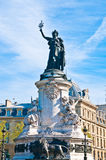 The Famous Statue of the Republic in Paris Royalty Free Stock Image