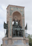 Famous Statue in Taxim Square, Istanbul honouring Turkish Heroes Mustafa Ataturk and Ismet Inonu Stock Images