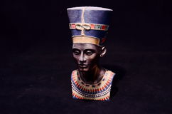 Famous Statuette Bust of Queen Nefertiti Royalty Free Stock Photo