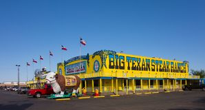 A famous steak house in texas. A welcoming restaurant popular with tourists in amarillo Royalty Free Stock Photography