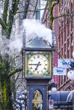 Famous Steam Clock in Vancouver Gastown - VANCOUVER / CANADA - APRIL 12, 2017. Famous Steam Clock in Vancouver Gastown Royalty Free Stock Photos